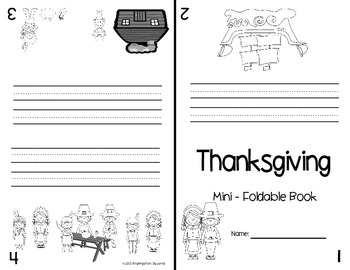 "Thanksgiving Emergent Readers: 7 ""Print, Fold, and Go"" Books!"
