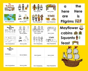 Thanksgiving Activities: Readers:  3 Levels + Illustrated Thanksgiving Word Wall