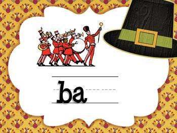 Thanksgiving CVCC Word Game: Writing Ending Blends (Smartboard/Promethean Board)