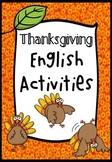 Thanksgiving English Activities