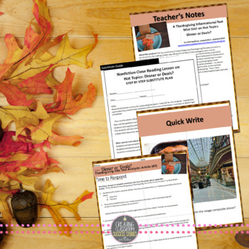 Thanksgiving English Lessons for Teens, BUNDLE