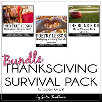 Thanksgiving Activities for Teens, Mini Unit, BUNDLE