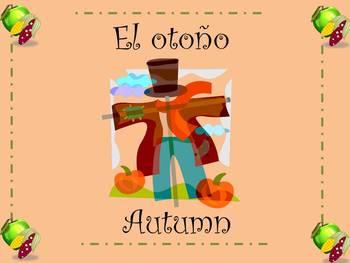 Thanksgiving English/Spanish Vocabulary Bulletin Board Set