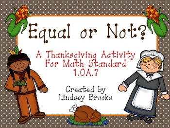 Thanksgiving Equal Or Not? (Understanding the Equal Sign)
