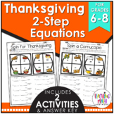 Thanksgiving Equations Activity