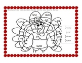 Thanksgiving Equivalent Fractions Coloring Puzzle