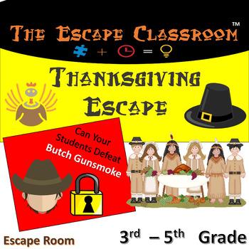 Thanksgiving Escape Room (3 - 5 Grade)