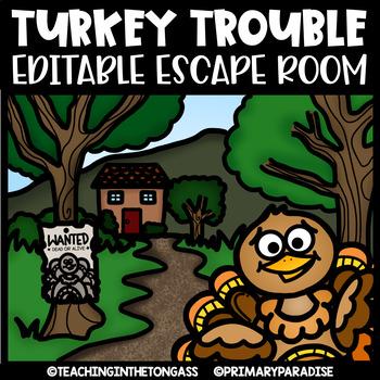 Thanksgiving Escape Room (Editable Escape Room Activities)