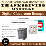 Thanksgiving Escape Room: Expressions & Equations (Distanc
