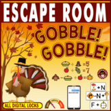 Thanksgiving Escape Room ~Gobble! Gobble! ~Breakout ~All Digital Locks