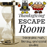 Thanksgiving Escape Room: Integrates 3 Subjects