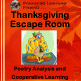 Thanksgiving Escape Room:  Poetry Analysis and Cooperative