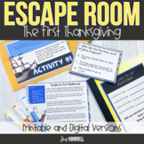 Thanksgiving Escape Room Printable and Digital