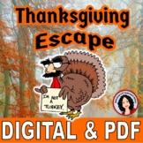 Thanksgiving Escape Room Thanksgiving Activity