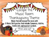 Thanksgiving Escape the Music Room! 6 Musical Puzzles to E