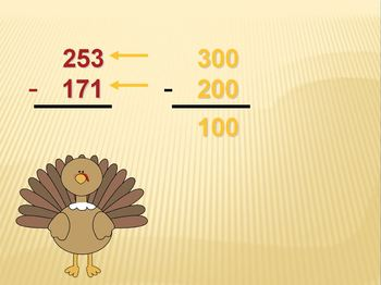 Thanksgiving Estimate Differences Powerpoint
