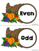 Thanksgiving Even and Odd Sort