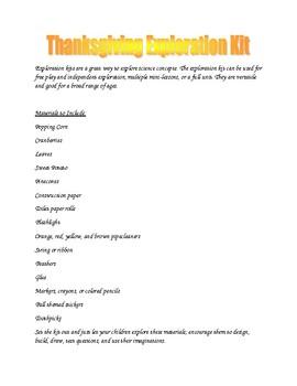 Thanksgiving Exploration Kit