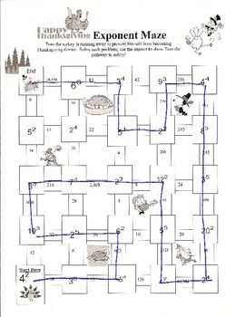 Thanksgiving Exponent Maze