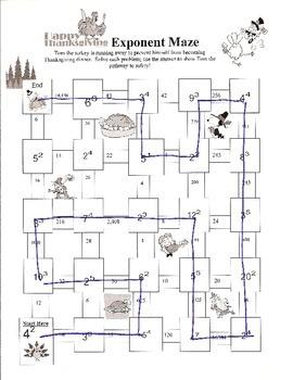 Thanksgiving Exponent Maze
