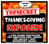 Thanksgiving Exposed: Lesson Plan with Graphic Organizer