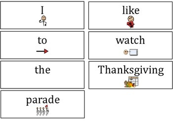 Thanksgiving Expressive Language Unit