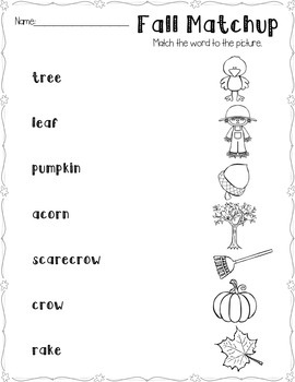 Free Fall Activities Sampler