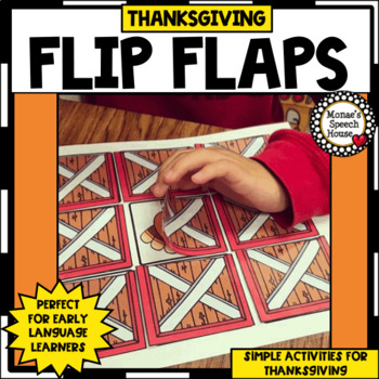 Thanksgiving FLIP FLAP TURKEY SPEECH THERAPY pre-k autism early childhood