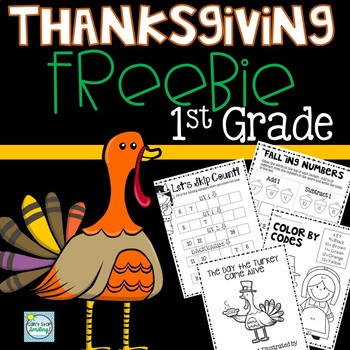 Thanksgiving FREE 1st Grade ~ Thanksgiving 1st Grade Math and Writing