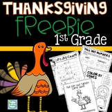 Thanksgiving FREE 1st Grade ~ Thanksgiving 1st Grade Math