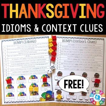 Thanksgiving FREE: Thanksgiving Activities | Thanksgiving Reading Games
