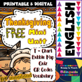 Thanksgiving - FREE Mini Unit (ELA and Literacy)