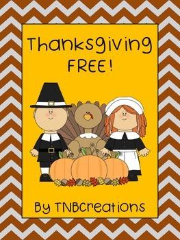 Thanksgiving FREE Activities