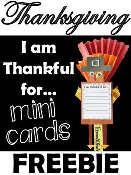 "Thanksgiving FREEBIE ""I am Thankful for..."""