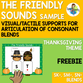 Thanksgiving Friendly Sounds: Articulation Supports for Sm-, Sn-, Sk- Blends
