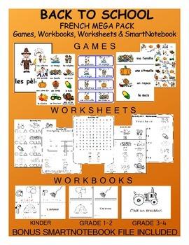 Thanksgiving FRENCH MEGA Pack (games,worksheets,workbooks