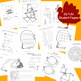 Thanksgiving FUN for Kinders - 3rd Grade (PRINT and GO)