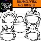 Thanksgiving Face Templates {Creative Clips Clipart}