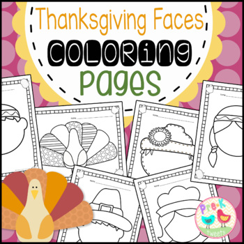 Thanksgiving Faces Coloring Pages