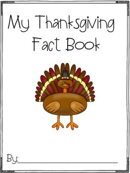 Thanksgiving Fact Book FREEBIE