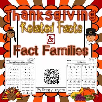 Thanksgiving Fact Families