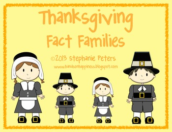 Thanksgiving Fact Families ~ Facts up to 17