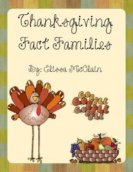 Thanksgiving Fact Family Craftivities