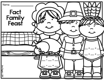 FREEBIE Thanksgiving Fact Family Sheets