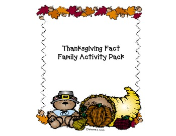 Thanksgiving Fact Family Pack