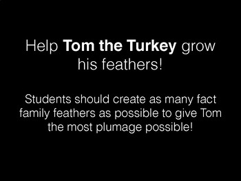 Thanksgiving Fact Family Turkey Craft 1st 2nd 3rd 4th Multiplication Addition