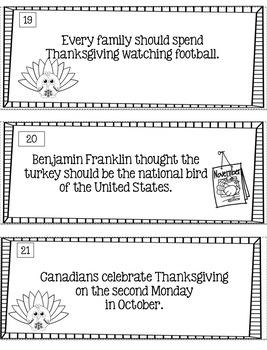 Thanksgiving Fact Or Opinion?  [Literacy Center]