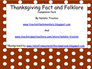 Thanksgiving Fact and Folklore