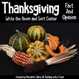 Thanksgiving Fact and Opinion