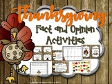Thanksgiving Fact and Opinion Activities